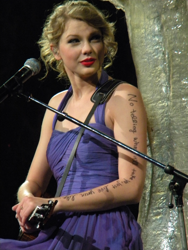 Taylur Schwift All Of Taylor S Arm Lyrics During Speak Now Tour
