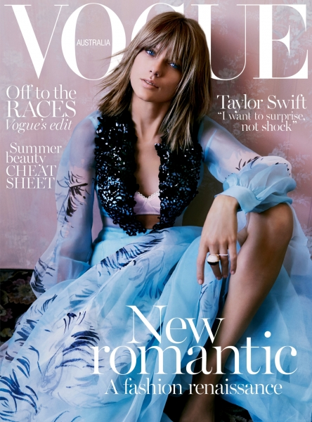Taylor Swift on the cover of Vogue Australia November 2015 issue.